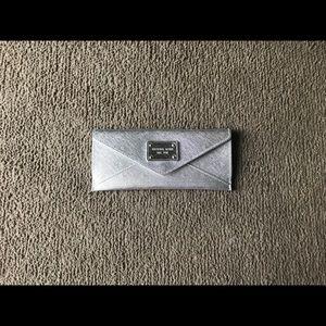 Michael Kors Silver Snap Wallet